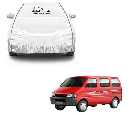 Picture of Parkin White See through Car Cover with Black Piping For Maruti Eeco