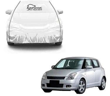Picture of Parkin White See through Car Cover with Black Piping For Maruti Swift