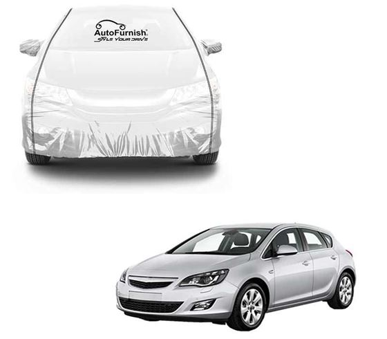Picture of Parkin White See through Car Cover with Black Piping For Opel Astra
