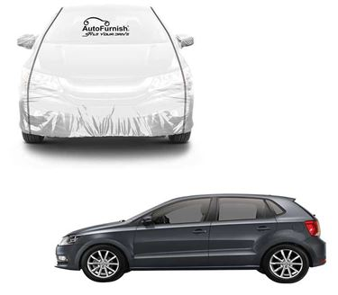 Picture of Parkin White See through Car Cover with Black Piping Compatible With Volkswagen Polo GT - Parkin White