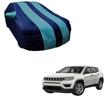 Picture of  Stylish Aqua Stripe  Car Body Cover For Jeep Compass -  Arc Blue