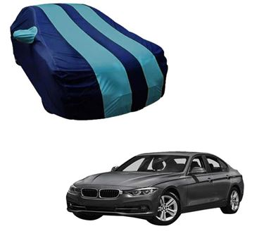 Picture of Stylish Aqua Stripe Car Body Cover For BMW 3 Series - Arc Blue