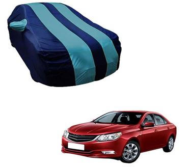 Picture of Stylish Aqua Stripe Car Body Cover For Chevrolet Optra - Arc Blue