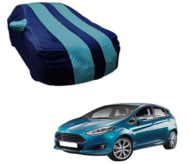 Picture of Stylish Aqua Stripe Car Body Cover For Ford Fiesta - Arc Blue