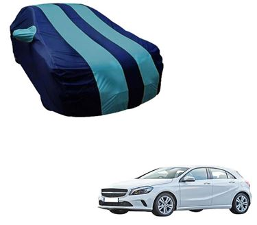 Picture of Stylish Aqua Stripe Car Body Cover For Mercedes Benz A180 - Arc Blue