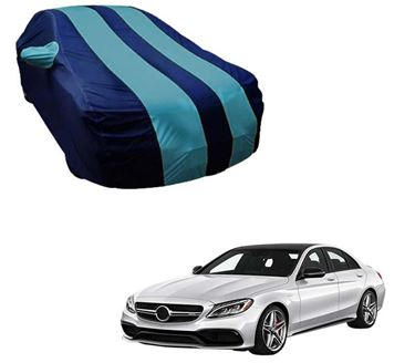 Picture of Stylish Aqua Stripe Car Body Cover For Mercedes Benz C220 - Arc Blue