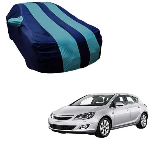Picture of Stylish Aqua Stripe Car Body Cover For Opel Astra - Arc Blue