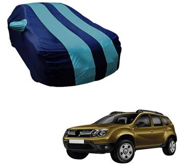 Picture of Stylish Aqua Stripe Car Body Cover For Renault Duster - Arc Blue