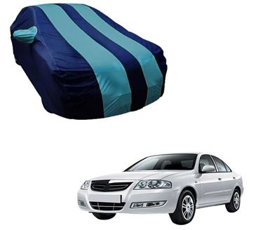 Picture of Stylish Aqua Stripe Car Body Cover For Renault Scala - Arc Blue