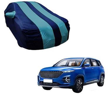 Picture of Stylish Aqua Stripe Car Body Cover For MG Hector Plus 2020 - Arc Blue