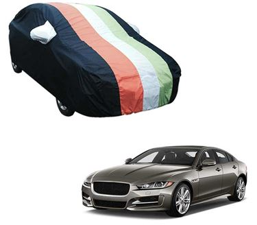 Picture of Stylish Freedom Tri Stripe Car Body Cover For Jaguar XE 2018 - Arc Blue