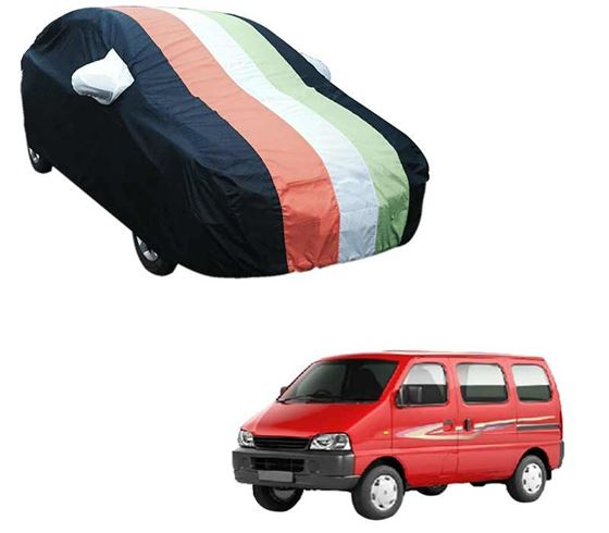 Picture of Stylish Freedom Tri Stripe Car Body Cover For Maruti Eeco - Arc Blue