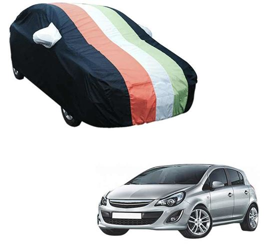 Picture of Stylish Freedom Tri Stripe Car Body Cover For Opel Corsa - Arc Blue