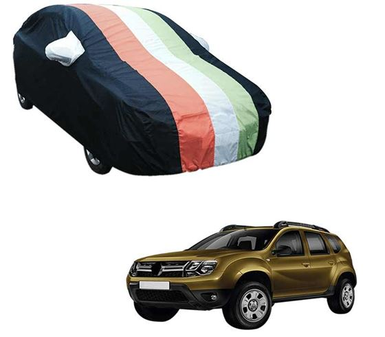 Picture of Stylish Freedom Tri Stripe Car Body Cover For Renault Duster - Arc Blue