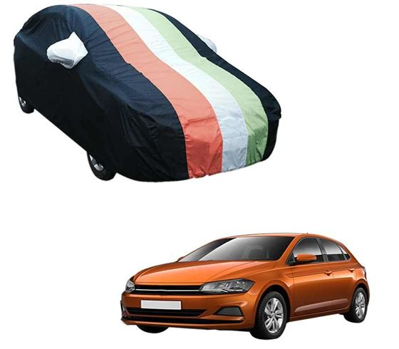 Picture of Stylish Freedom Tri Stripe Car Body Cover For Volkswagen Polo - Arc Blue