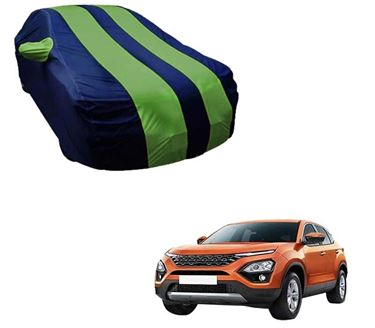 Picture of Stylish Green Stripe Car Body Cover For Tata Harrier 2019 - Arc Blue