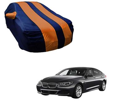 Picture of Stylish Orange Stripe Car Body Cover For BMW 5 Series - Arc Blue