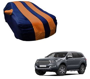 Picture of Stylish Orange Stripe Car Body Cover For Ford Endeavour 2017 -  Arc Blue