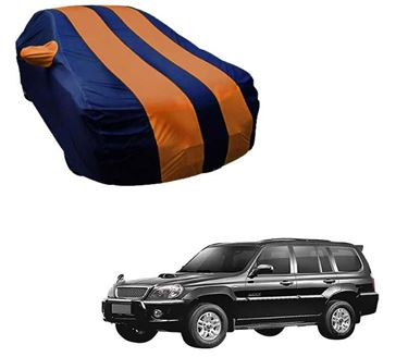 Picture of Stylish Orange Stripe Car Body Cover For Hyundai Terracan - Arc Blue