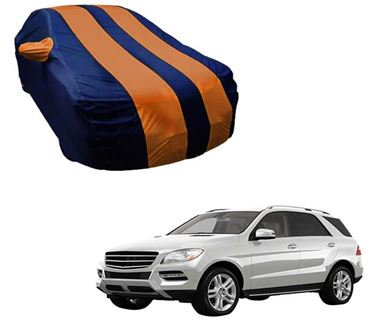 Picture of Stylish Orange Stripe Car Body Cover For Mercedes Benz ML250 - Arc Blue