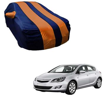 Picture of Stylish Orange Stripe Car Body Cover For Opel Astra - Arc Blue