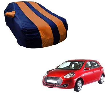 Picture of Stylish Orange Stripe Car Body Cover For Renault Pulse - Arc Blue