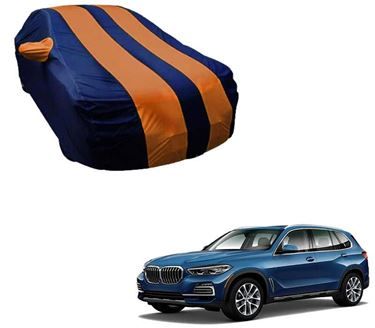 Picture of Stylish Orange Stripe Car Body Cover For BMW X5 xDrive 2019 -  Arc Blue