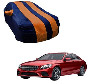 Picture of Stylish Orange Stripe Car Body Cover For Mercedes Benz C300 2019 - Arc Blue