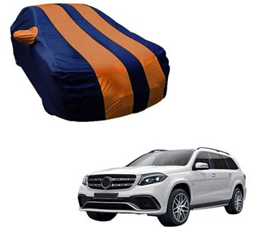Picture of Stylish Orange Stripe Car Body Cover For Mercedes Benz GLS 2017 - Arc Blue