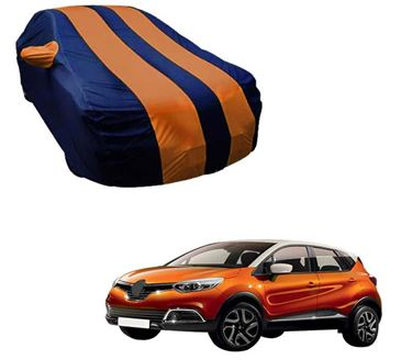 Picture of Stylish Orange Stripe Car Body Cover For Renault Captur 2019 - Arc Blue