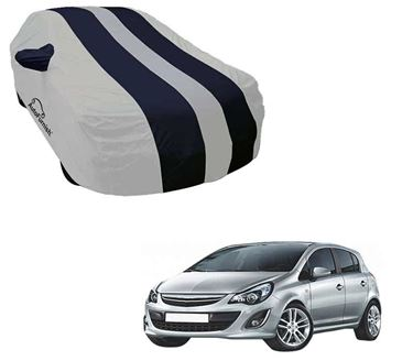 Picture of Stylish Blue Stripe Car Body Cover For Opel Corsa - Arc Blue
