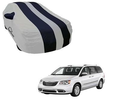 Picture of Stylish Blue Stripe Car Body Cover For Toyota Qualis - Arc Blue
