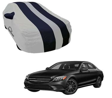 Picture of Stylish Blue Stripe Car Body Cover For Mercedes Benz E200 2019 - Arc Blue