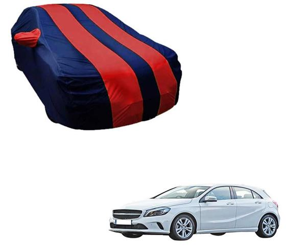 Picture of Stylish Red Stripe Car Body Cover For Mercedes Benz A180 - Arc Blue