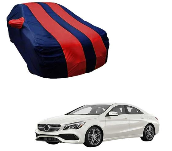 Picture of Stylish Red Stripe Car Body Cover For Mercedes Benz CLA - Arc Blue
