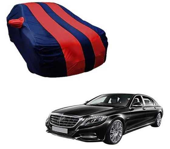 Picture of Stylish Red Stripe Car Body Cover For Mercedes Benz S300 - Arc Blue