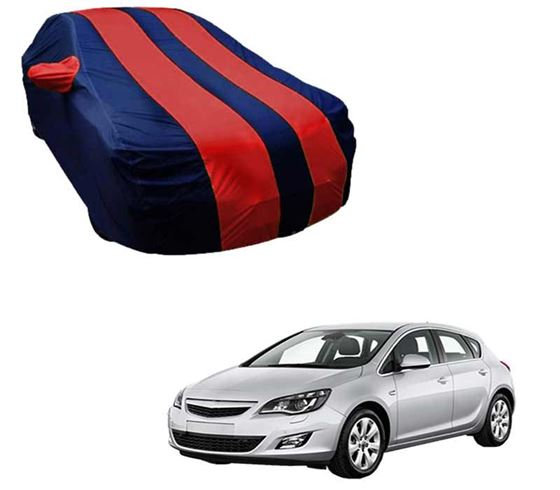 Picture of Stylish Red Stripe Car Body Cover For Opel Astra - Arc Blue