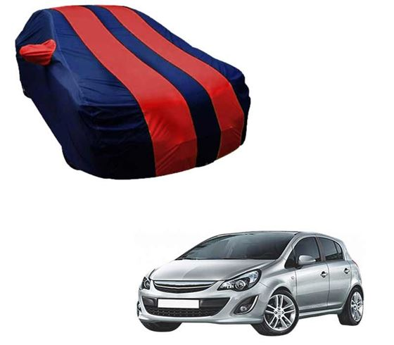 Picture of Stylish Red Stripe Car Body Cover For Opel Corsa - Arc Blue