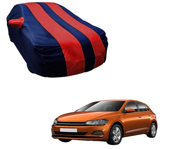 Picture of Stylish Red Stripe Car Body Cover For Volkswagen Polo - Arc Blue