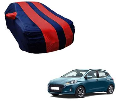 Picture of Stylish Red Stripe Car Body Cover For Hyundai Grand i10 NIOS 2019 -  Arc Blue