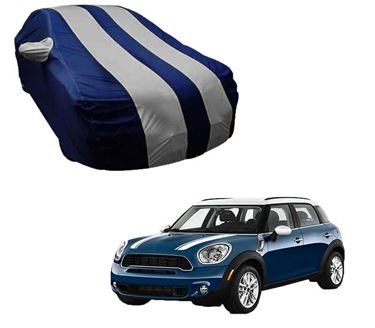 Picture of Stylish Silver Stripe Car Body Cover For Mini Cooper Countryman Coupe - Arc Blue