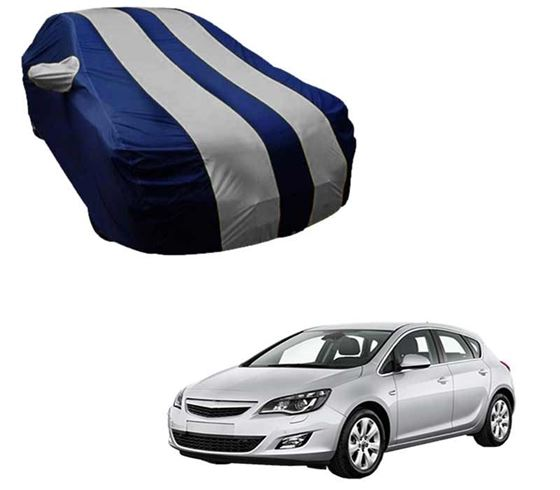 Picture of Stylish Silver Stripe Car Body Cover For Opel Astra - Arc Blue