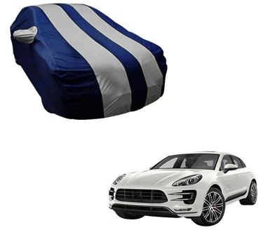 Picture of Stylish Silver Stripe Car Body Cover For Porsche Cayenne - Arc Blue