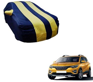 Picture of Stylish Yellow Stripe Car Body Cover For Renault Triber 2019 -  Arc Blue