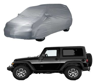 Picture of Parx Silver Car Body Cover For Mahindra Thar 2020