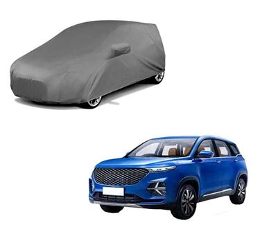 Picture of Premium Grey Car Body Cover For MG Hector Plus 2020 - Grey