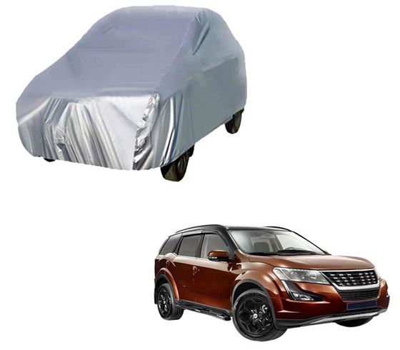 Picture of Silver Car Body Cover For Mahindra XUV500
