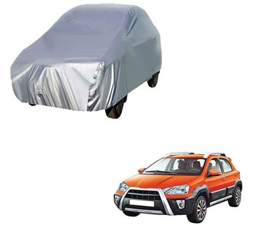 Picture of Silver Car Body Cover For Toyota Etios Cross