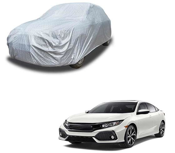Picture of Glaze Waterproof Heat Resistant Car Body Cover Compatible With Honda Civic 2019 - Glaze Silver