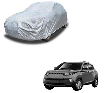 Picture of Glaze Waterproof Heat Resistant Car Body Cover Compatible With Mahindra KUV100 - Glaze Silver